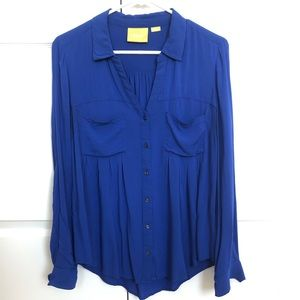 Mauve SM royal blue blouse